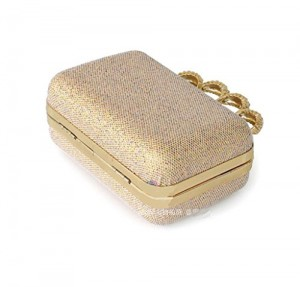Abless Women Sequin Rhinestone knuckle ring clutch