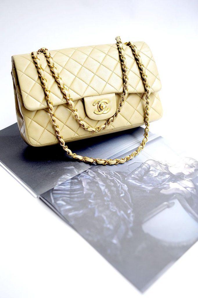 "Chanel's Leather White Handbag, ""2.55"""